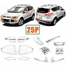 25P Accessories Chrome Smart Molding Covers Trims For 2013-2016 Ford Escape
