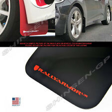 RALLY ARMOR UR MUD FLAPS FOR 2012-2016 VELOSTER TURBO & NON-TURBO BLACK / RED
