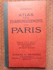 ATLAS DES 20 ARRONDISSEMENTS DE PARIS - DUFRENOY - ED. GIRARD ET BARRERE