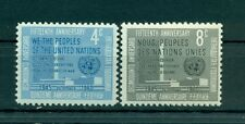 Nations Unies New York 1960 - Michel n. 90/91 A - 15e anniversaire des Nations U