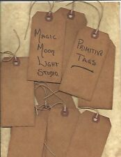 ~PRIMITIVE GRUNGY TAGS~100 LOT~BLANK~SCRAPBOOKING~BAKED