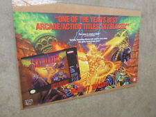 "Scarce 1994 24"" x 40"" Video Game Poster Skyblazer SNES Super Nintendo NES"