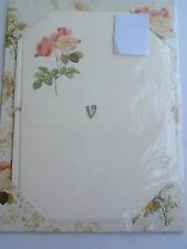 Valentina Florence Italy Stationery Set Roses Beige Paper Envelopes 10 NIP NEW