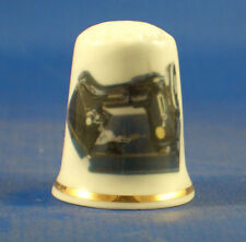 Birchcroft China Thimble -- Singer Featherweight Sewing Machine - Free Dome Box