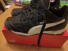 Puma Esito Classic Size 4 Brand New Astro Football Boots Junior Black