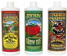 Fox Farm Soil Trio Nutrients Bundle, Big Bloom, Grow Big, Tiger Bloom Pint 16oz