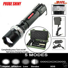 LED CREE XM-L T6 Taschenlampe Zoom 1000 Meter Leuchtweite inkl+PowerAkku+Lad+Box