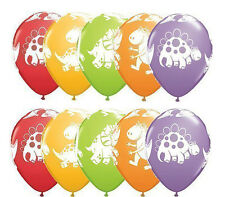"10ct Cute and Cuddly Dinosaur 11"" Latex Balloons Birthday Party Decoration Favor"