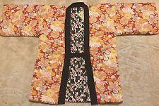 Japanease Hanten Kimono Jacket Reversible Warm Room Wear Chrysanthemum (L) Japan