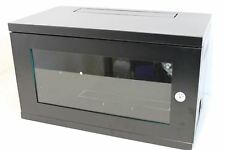 NEW LMS DATA CAB-W6U-EL300 Black 6U Wall Mount Rack Server Glass Door Cabinet