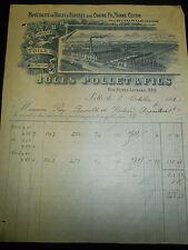 Facture - fil coton -Lille - Nord - 59 - année 1901 ( réf 9 )
