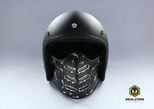 VULCAN #1 motorcycle dust filter face mask shield open face helmet - Damage