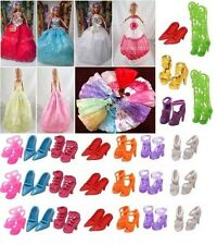 LOTTO di 12 Articoli BARBIE-ABITO DA SPOSA long-small + Scarpe & accesories-freepost UK