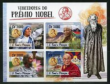 SAO TOME 2017  NOBEL PEACE PRIZE WINNERS MANDELA, THERESA, DALAI LAMA SHEET NH