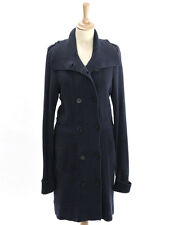 Crew Clothing Womens French Navy Double Breasted Knitted Coat Size 12