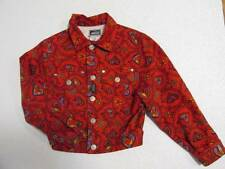 Vintage Young Versace Girl's Red Hear Star Jacket Medusa Bronze buttons 6