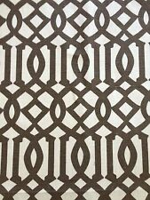 SCHUMACHER KELLY WEARSTLER Imperial Trellis II java cream screen print linen 1.5