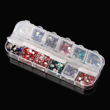 Transparent Empty Storage Container Box Case for Nail Art Tip Rhinestone Gems KI