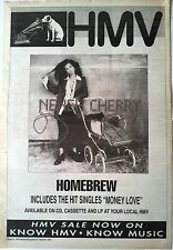 NENEH CHERRY  Homebrew 1992  UK Poster size Press ADVERT 16x12""