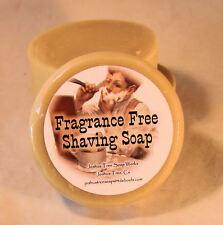 Fragrance Free Honey & goat's Milk  Shaving Soap, Larger 3 inch Mug Size Round!