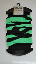 Ladies Girls Teen 80's Dance Neon Stripe Leg Warmers LegwarmersTutu Fancy Dress