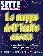 SETTE by CORRIERE DELLA SERA* N°16/APR/1994 * La mappa dell'Italia onesta . . .