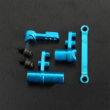 Blue Aluminum Steering Servo Saver Set For HSP 1/10 Scale RC Car Truck Buggy