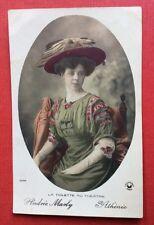 CPA. Artiste Andrée MARLY. La Toilette au Théâtre. ATHÉNÉE. Manuel.