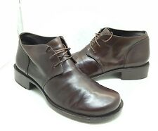 MARE MEN EURO 42 USA 8.5M BROWN LEATHER ANKLE BOOTS MADE IN ITALY BEAUTIFUL