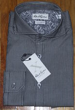 NWT ROBERT GRAHAM X Collection Tailored Fit striped dress shirt 16.5 42