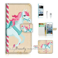 iPod Touch iTouch 5 Print Flip Wallet Case Cover! Pony Kids P1430