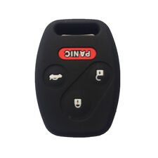 Black Silicone Keyless Remote Key Fob Case Skin Cover fit for Honda 3+1 Button
