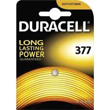 1 pile 377 Duracell - pile SR626sw Oxyde d'argent SR66