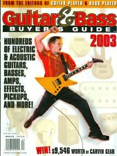 2003 Guitar & Bass Buyers Guide Magazine