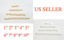 SILVER GOLD PLATED Extender Safety Link Chain Necklace Bracelet spring lock