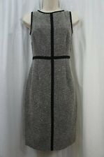 "Kasper Separates Dress Sz 2 Black Ivory Multi ""Autumn Escape"" Business Cocktail"