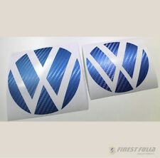 Emblem Ecken Carbon Blau vorne+hinten VW Golf 7 VII GTI GTD R Turbo Logo