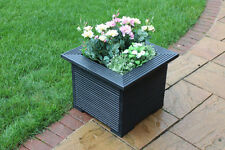 47cm Square Planters Made in Decking Perfect Flower Trough Plant Pot Black