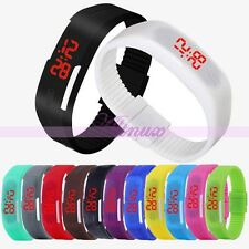 All' ingrosso 8pcs Colorate Uomo Donna Silicone Touch LED Digital Orologio da polso