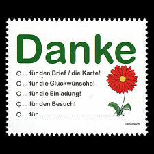 "Austria 2016 - Definitive ""Greetings Stamp"" Flowers - MNH"