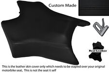BLACK STITCH CUSTOM FITS DERBI GPR 50 125 UNDERSEAT EXHAUST 07-13  FRONT COVER