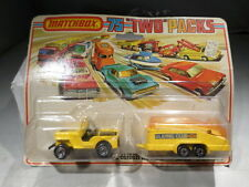 Matchbox CARDED 75 Two Packs TP-7 Jeep and Glider Trailer Superfast