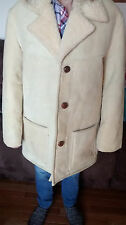 Vintage Men's Hand Made Australian Shearling Sheepskin Coat Jacket