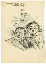 CARICATURE DRAWING MEN and WOMAN by u/k Russian artist