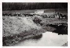 Deutsches Feldgeschütz Behelfsbrücke Charleville Frankreich