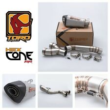 Toro T2 Hex Cone RR Stainless/Carbon Slip on Exhaust System BMW S1000RR 10-11