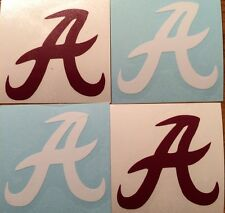 Alabama Crimson Tide  A Decal 4 Pack*FREE SHIPPING*