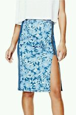 Guess WINDSURF PUSH-UP LONGETTE DENIM SKIRT