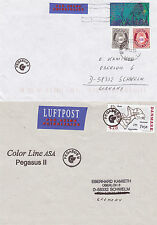 DENMARK CARGO SHIP MS PEGASUS II TWO SHIPS CACHED COVERS