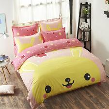 Queen Size Pokemon Pikachu Bed Bedding Set Duvet Cover Sheet Pillow Cases